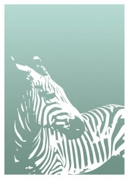 Plakater, dyreplakater, zebra, dekorationskort