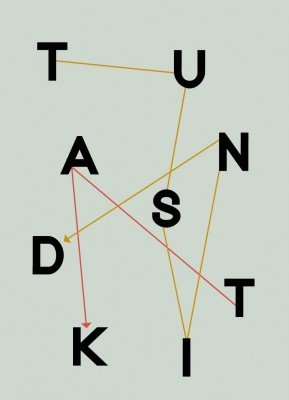 Takkekort, Tusind tak, illustration, typografi, 13x18 cm