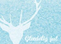 Iskrystaler, kronhjort, Julekort, 13x18 cm