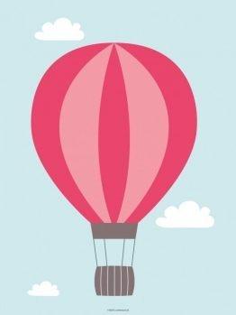 Plakater, børneplakater, luftballon, rød, 30x40 cm