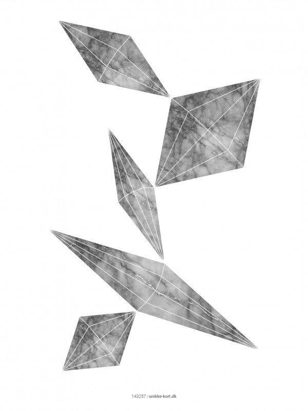 Plakater, Geometri, marmor, 30x40 cm