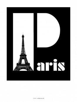 Plakater, byplakater, Paris, 30x40 cm
