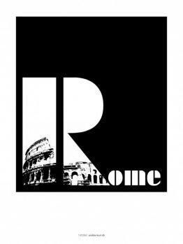 Plakater, byplakater, Rome, 30x40 cm