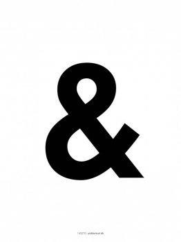 Plakater, typografi, &, 30x40 cm