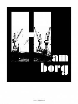 Plakater, byplakater, Hamborg, Havn, 30x40 cm