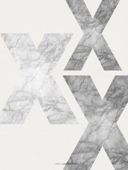 Plakater, typografi, marmor
