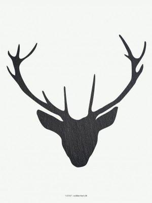 Plakter, illustration, kronhjort skifer tekstur, 30x40 cm