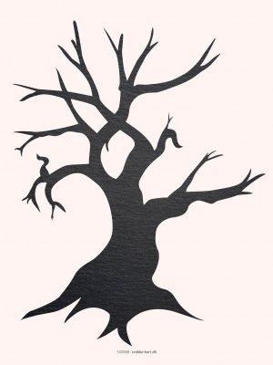 Plakter, illustration, Vinter træ, skifer tekstur, 30x40 cm