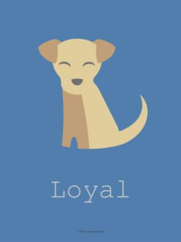 Illustration hund loyal