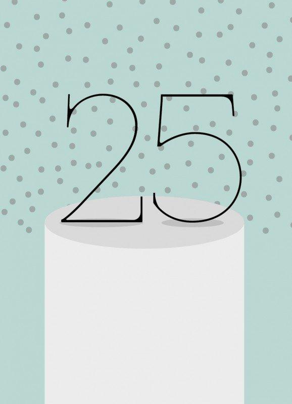 25 lykønskningskort
