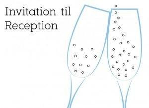 Reception, hvid - Invitation