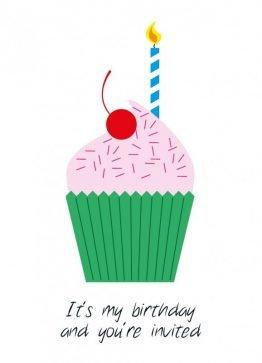It's My Birthday – Invitationskort - Invitationer