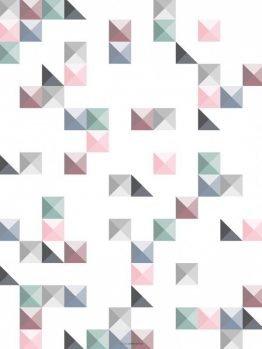 Plakater, geometriske plakater, firkanter, 30x40 cm