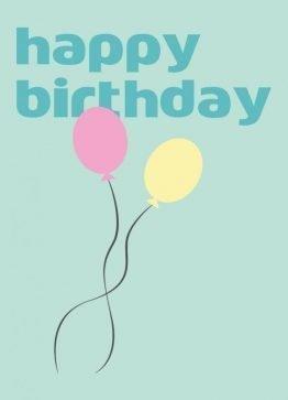 Happy birthday, balloner - Fødselsdagskort
