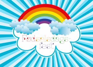 Fødselsdag Regnbue - Invitation til børnefødseldag