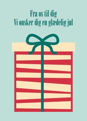 Fra os til dig gave - julekort