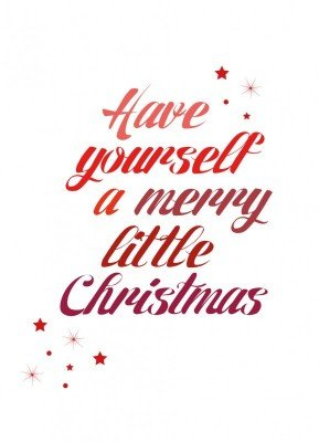 Merry little christmas, rød - Julekort