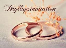 Kobberringe - Bryllupsinvitation