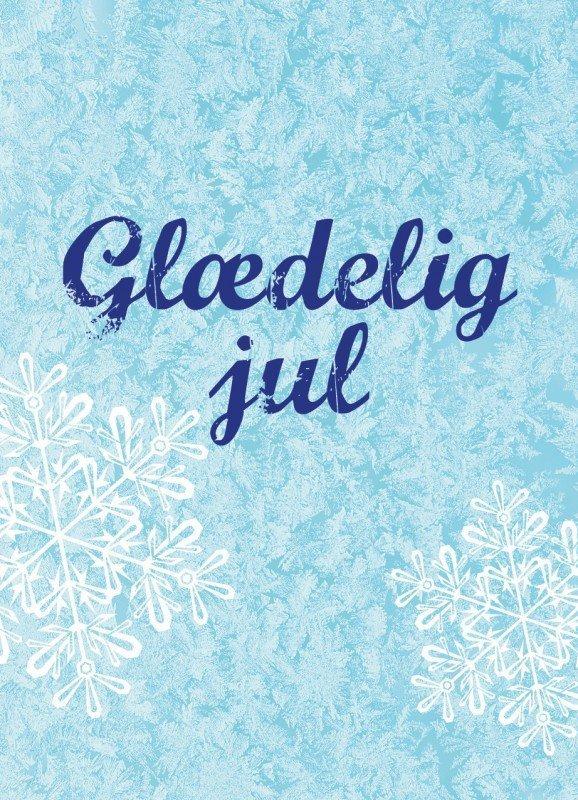 Iskrystal, lyseblå - Julekort