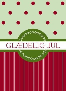 Glædelig jul - Julekort