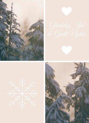 Glædelig jul & godt nytår - Julekort