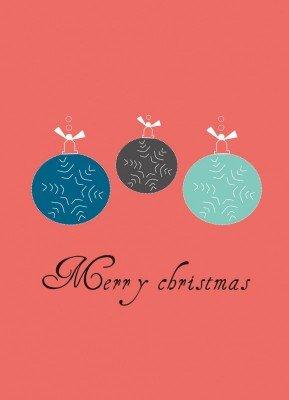 Julekugler - Julekort