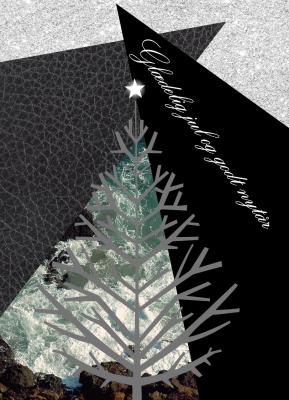 Juletræ læder - julekort