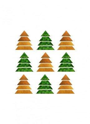 Juletræer - Julekort