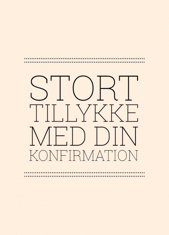 Lykønskning, lyserød - Konfirmationskort