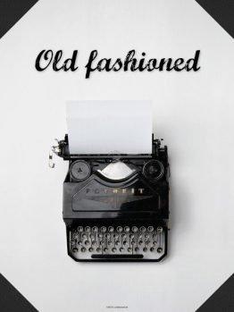 Plakater, skrivemaskine, typografi, 30x40 cm