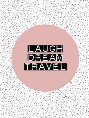 Plakat, Typografi, Geometri, Laugh, 30x40 cm