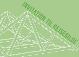Rejsegilde, grøn - Invitation