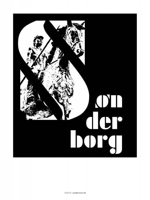 Plakater, byplakater, Sønderborg, 30x40 cm
