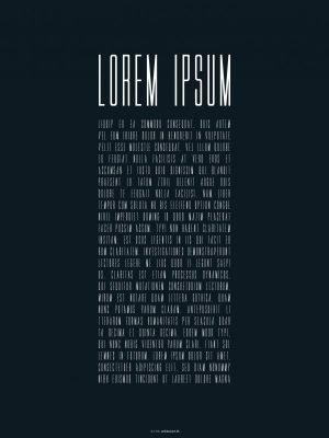 Plakater, typografi plakater, lorem ipsum, 30x40 cm